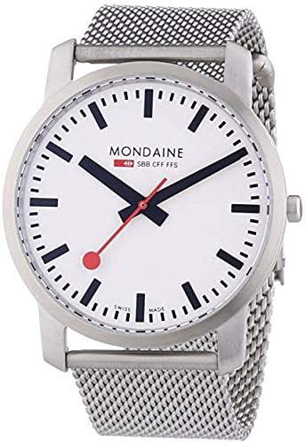 Mondaine SBB Simply Elegant 41mm A638.30350.16SBM Reloj de pulsera Cuarzo Hombre correa de Acero inoxidable Plateado