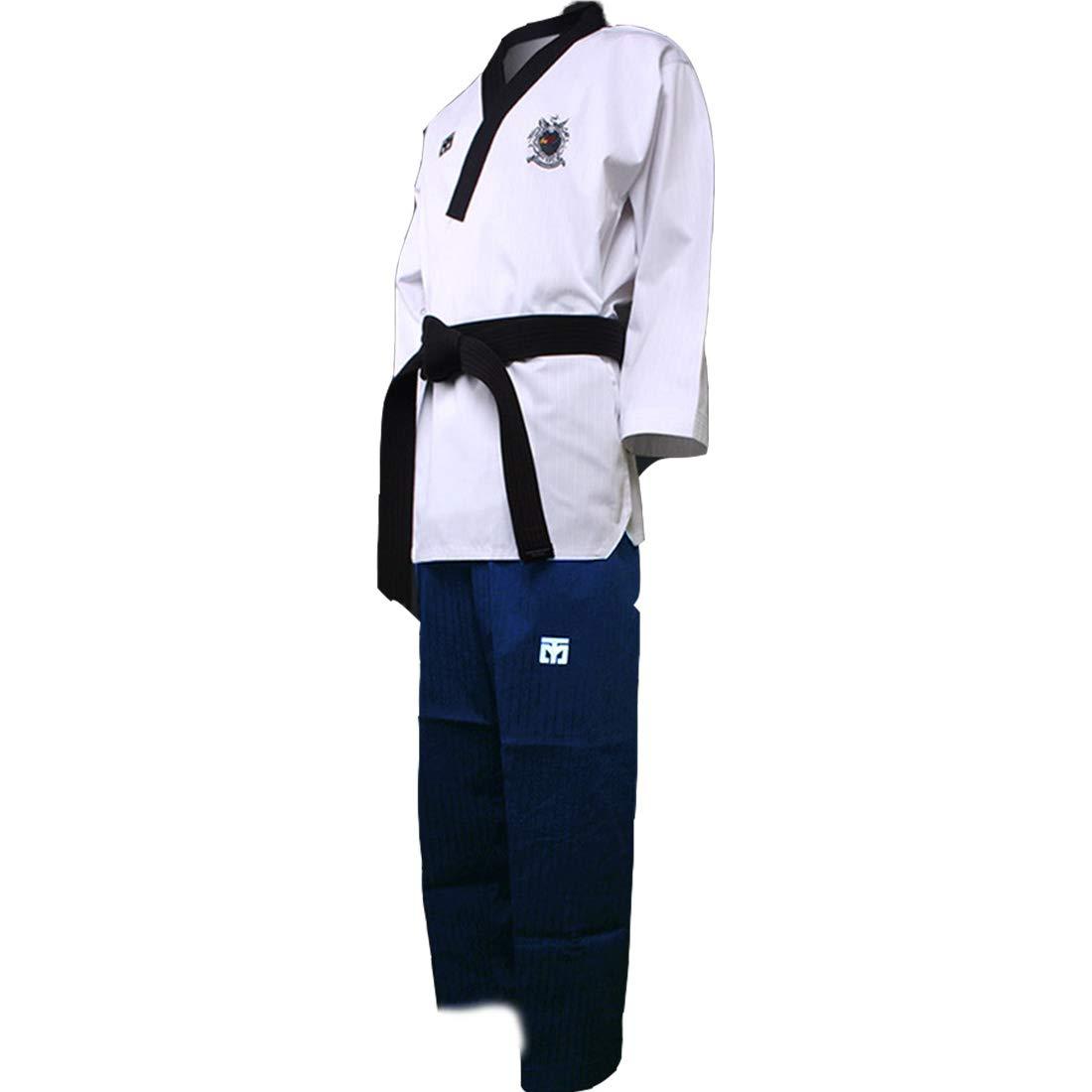Mooto WTF Poomsae Uniform Korea Taekwondo female Dan Dobok (200(US6)(6.23~6.56ft or 190-200cm)) by Mooto