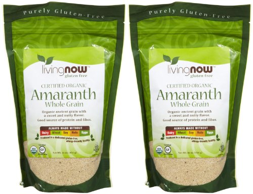 NOW Foods Organic Amaranth Grain - 1 lb - 2 pk by NOW Foods