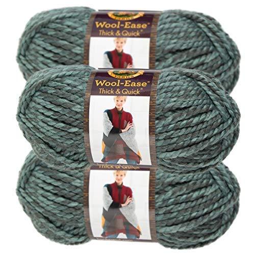 Lion Brand Yarn (3 Pack) Wool Ease Super Chunky Yarn for Knitting Crocheting Soft Yarn Bulky #6