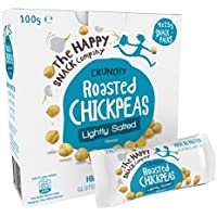 The Happy Snack Company Roasted Chickpeas, Lightly Salted Flavour Healthy Snacks, High Protein, Gluten Free Tasty Snacks, Vegan, 105 Calories, 25g Portion, Pack of 20