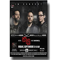 Chevelle Poster - 11 x 17 Band Concert Promo for a show on the La Gargola Tour UPS