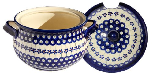 Polish Pottery Soup Tureen From Zaklady Ceramiczne Boleslawiec 1004-166a Floral Peacock Pattern, 13.4 Cups by Polish Pottery Market (Image #1)