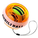 kecho Powerball 2.0 Workout Toy Spinner Gyroscope Ball Wrist Arm Strengthener Wrist & Forearms Exerciser with LED lights,Wrist & Forearms Exerciser(Orange)