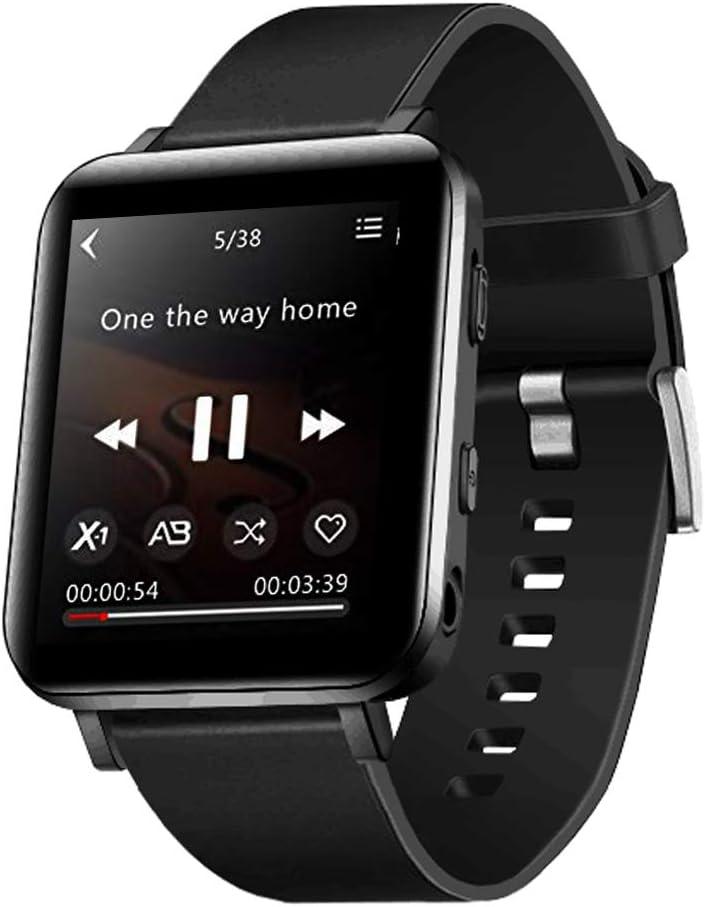 CCHKFEI Reloj MP3 con Bluetooth de 16GB, Reproductor de MP3 Deportivo con Pantalla táctil, Reproductor de música Alta podómetro Deportivo para niños Corriendo joging Entrenamiento