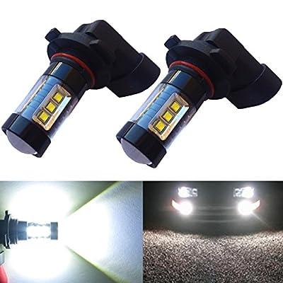 Alla Lighting® 80W High Power Osram White LED Lights Bulbs for Fog Light DRL Lamp H8 H10 H11 9005 9006 H16 5202 2504