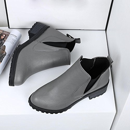 Size Sonnena Fashion Low Winter Gray Shoes Autumn Boots UK Winter Heels Boots Womens New Ankle Womens Boots Boot r6qzTar