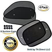Extra Large Car Window Shade - Block UV Rays - Skin Protection for Kids, Pets, and Humans - Keep Your Car Cool - Easy Installation (4 Pack)