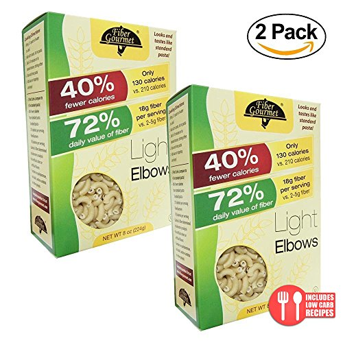 Value 2 Pack: FiberGourmet Light Low Carb Pasta and Noodles, 8 oz. (Elbows)
