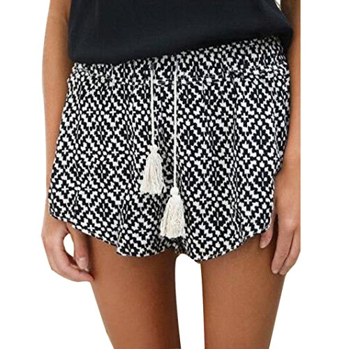 Realdo 2018 New Women's Fashion Sexy Hot Pants,Casual Shorts High Waist Shorts (Black,M)