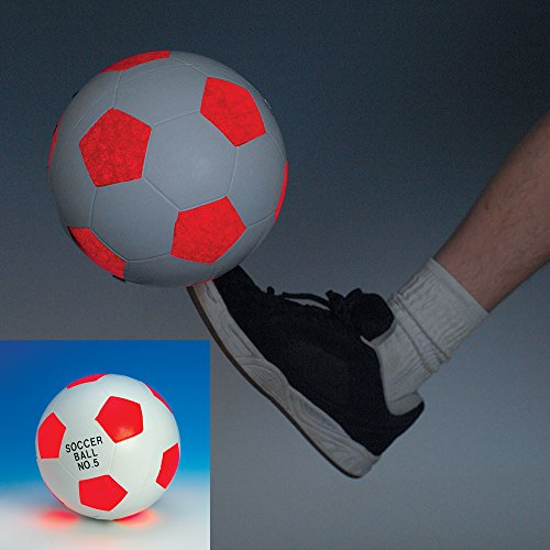 Bits and Pieces - Light-Up Soccer Ball - Glow in the Dark...