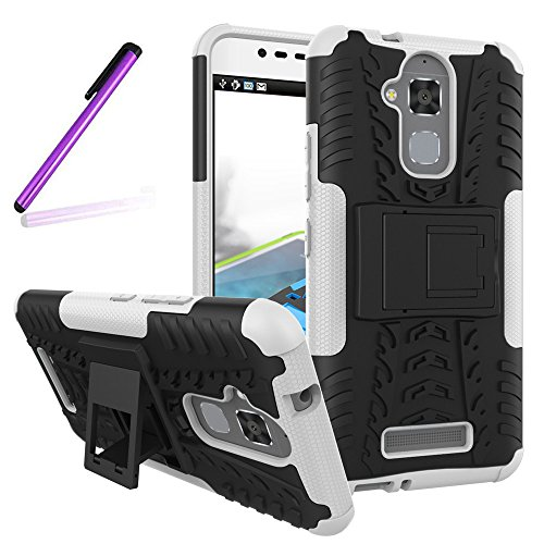 Shockproof Armor TPU/PC Case for Asus Zenfone Max (White) - 1