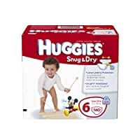 Huggies Snug and Dry Diapers Economy Plus, Size 6, 140 Count