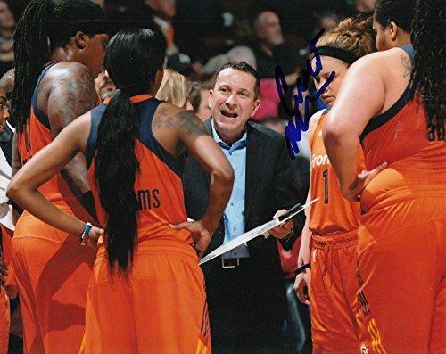 (CURT MILLER signed (CONNECTICUT SUN) WNBA basketball 8X10 photo W/COA #1 - Autographed WNBA Photos)