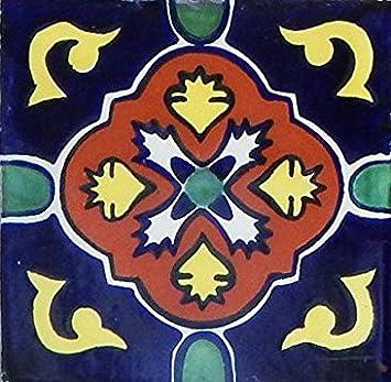 Amazon.com: 40 mexicano Azulejos de Talavera pintado a mano ...
