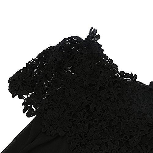 Top Chemisier Courte Femme Chemise Kangrunmy Shirt Gilet 4 Manche T 3 Crop sans qPI8wfxAZ