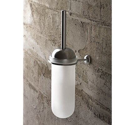 Toscanaluce 1506-638845329842 Riviera Collection High End Frosted Glass Wall Toilet Brush, Chrome