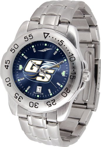 SunTime Georgia Southern Eagles Sport Steel Band Ano-Chrome Men's Watch ()