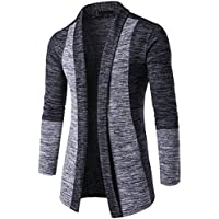 Hot Sale! Men Cardigans,Canserin Mens Autumn Winter Classic Patchwork Sweater Cardigan Open Front Knit Jacket Knitwear Coat