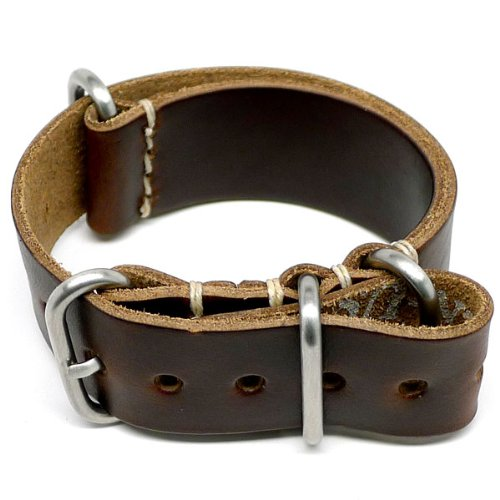 DaLuca NATO Watch Strap - Brown Chromexcel (Matte Buckle) : 20mm