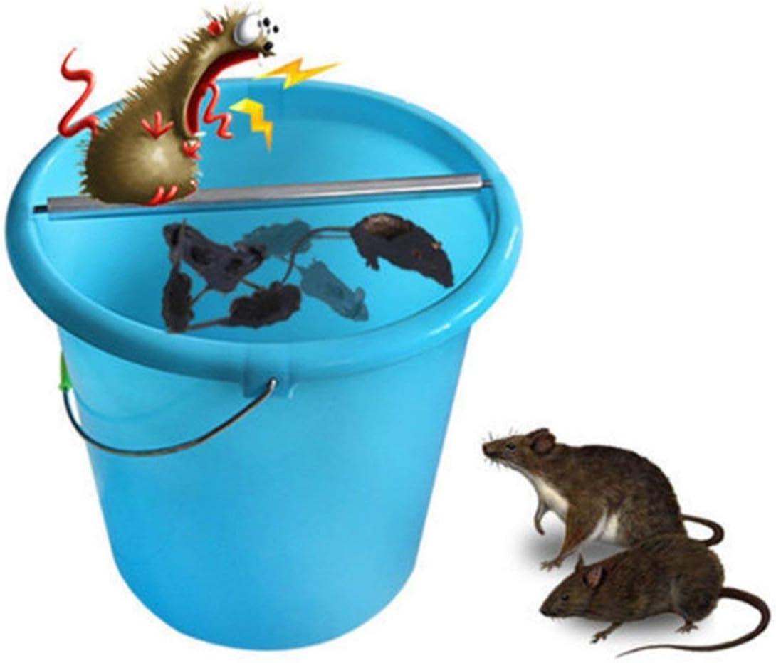Color:Silvery Kaemma Souris Eco-Mate Mouse Killer Durable Souris en Acier Inoxydable Pi/ège /À Rouleaux Ronds B/âton /À Rouler Indispensable pour La Cuisine /À La Maison