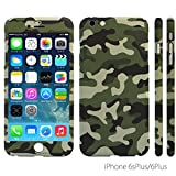 iPhone 6S Plus/6 Plus Case, ZENDO NanoSkin Ultra Thin 360 Case + 9H Tempered Glass Screen Protector for iPhone 6S / 6 Plus - Camouflage GREEN