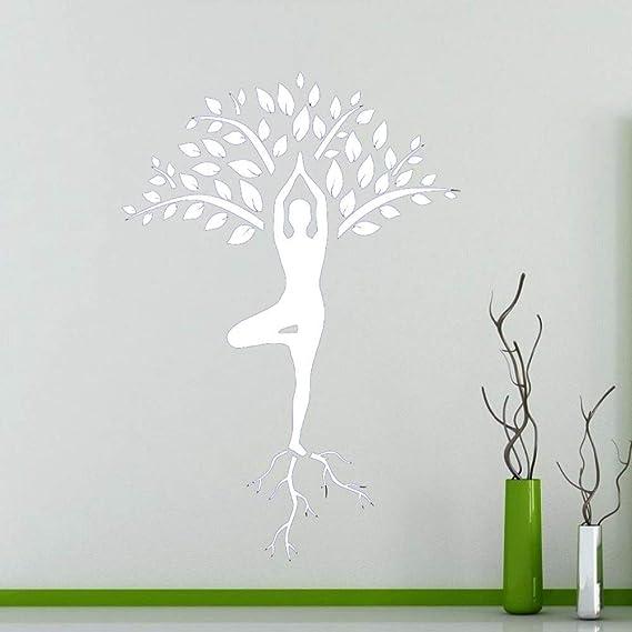 Zaosan Artistas decoración del hogar árbol de Yoga Pegatinas ...