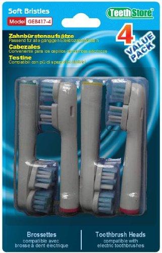 Frost® Dual clean compatibile 4 X Recambio para Cepillo eléctrico Compatible y en forma Braun