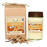 anthropologie decorative dish - Aira Soy Candles - Organic, Kosher, Vegan, in Mason Jar w/ Therapeutic Grade Essential Oil Blends - Hand-poured 100% Soy Candle - Paraffin Free, Burns 110+ Hours - Fall Candle - Pumpkin Pie -16 Ounces