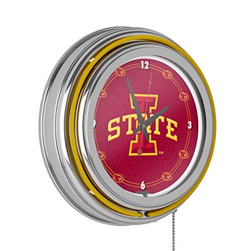 Iowa State University Neon Clock - 14 Inch - 14 Diameter Clock Inch