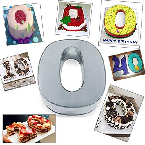 Large Number Zero Birthday/Wedding Anniversary Cake Tin/Pan/Mould 14
