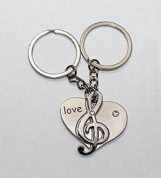 Amazon.com: Su Y El Suyo Música Nota y el corazón llavero ...