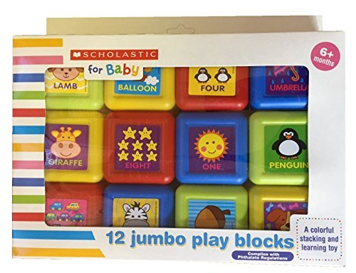 Scholastic for Baby 12 Jumbo Play Blocks