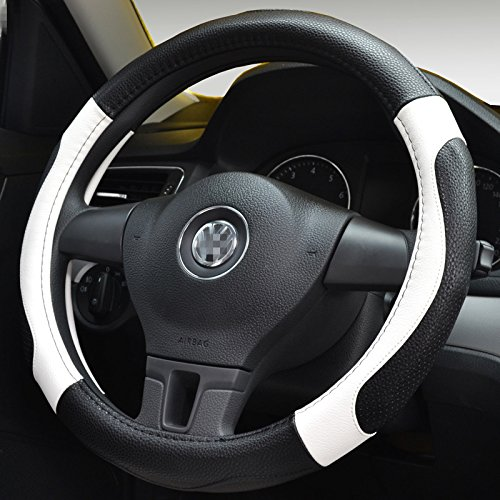 Moyishi Top Leather Steering Wheel Cover Universal Fit