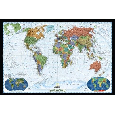 (World Decorator Map (Two Sizes Available) Map Type: Enlarged and Tubed (48