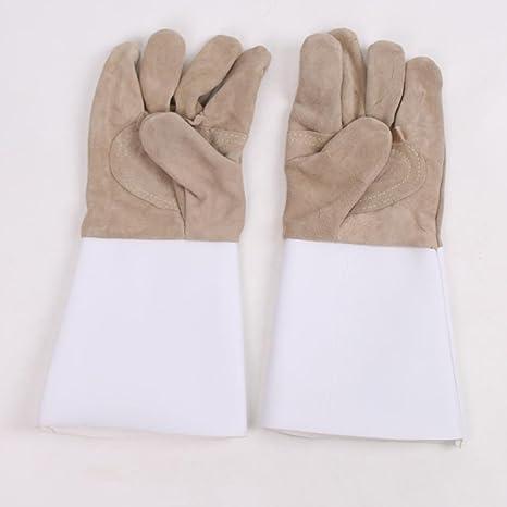 Guantes de soldador guantes de soldadura seguros de trabajo de cuero de alta temperatura