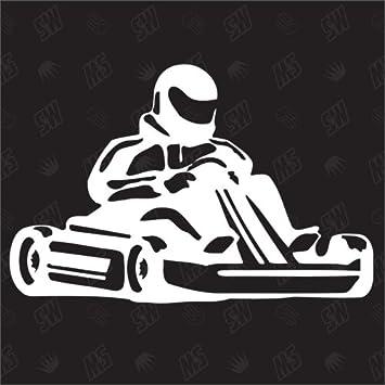 Go Kart Sticker Fun Aufkleber I Love My Sport Kart