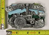 THE AMERICAN FARMER FEEDS THE WORLD BELT BUCKLE USA TRACTOR