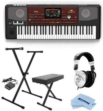 Korg Pa700 - Teclado oriental, 61 teclas sensibles a la velocidad, teclado profesional con pedal de sostenimiento, Behringer HP Studio