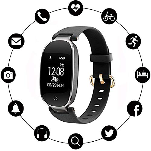 Activity Tracker Women, TABCase Smart Activity Tracker Watch with Heart Rate/Sleep Monitor Sport Waterproof Slim Fitness Band Pedometer with Step Calorie Counter Smartwatch for iOS Android ()