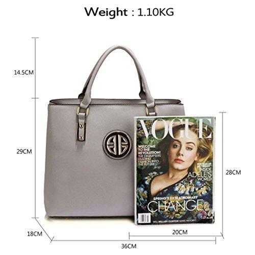 Shoulder Large CWS00472 Ladies Grey Bag Designer Stunning Celebrity Handbag Women's Tote LeahWard® Fashion CWS00349 RwpXX