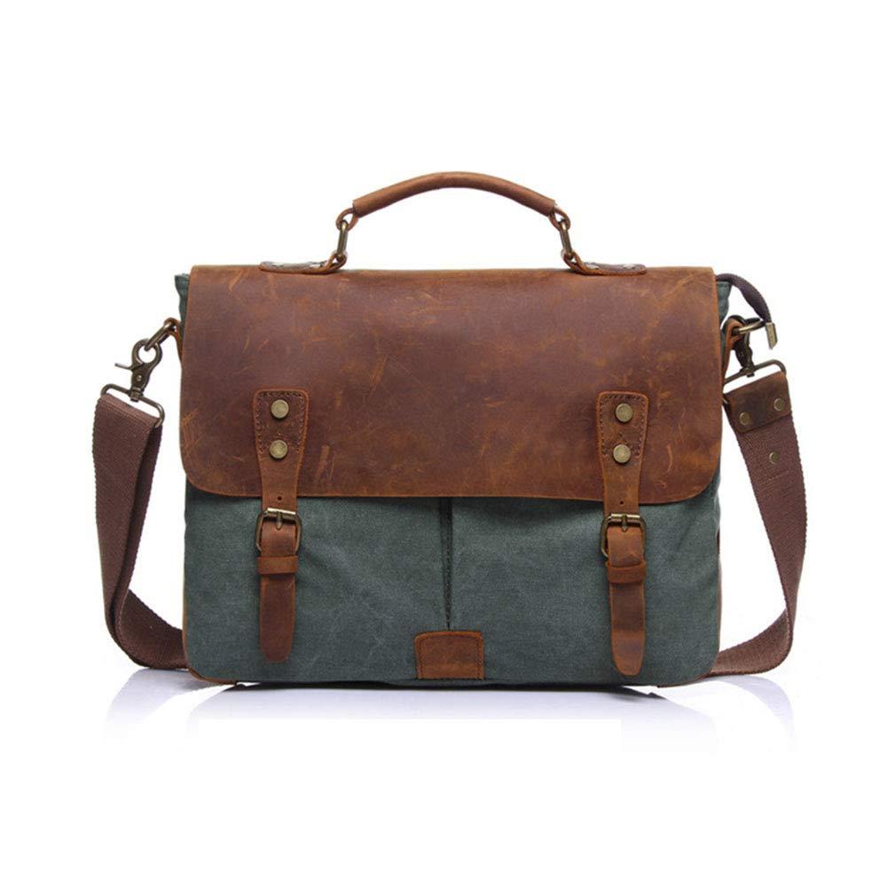旅行バッグ スタイリッシュなシンプルさメンズトラベルバッグキャンバスバッグ大容量クラッチショルダーバッグビジネスバッグ スポーツバッグ トラベルバッグ (色 : 緑) B07P6LKN11 緑