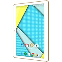"Plum 10"" Tablet Phablet Smart Phone Unlocked 4G GSM Android 5.1 ATT Tmobile MetroPCS Cricket Etc Dual Camera Quad Core Dual Sim - White"