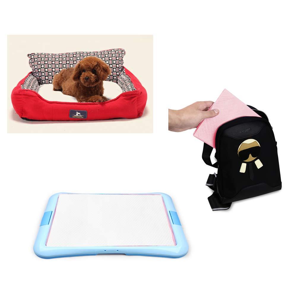 Pet Pet Pet Pee Pads Ultra Stereo Lock Water Confortevole Struttura Traspirante 6 Strati Protezione Pannolini per Cani Deodorante a Prova di perdite, per Cani e Gatti di Taglia Piccola 4172d0