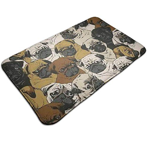 (Tuoneng Imagen De Pug, Dog, and Wallpaper,Kitchen Carpet Rug Door Mat Rug for Bathroom Outdoor Porch Laundry Living Multifunction Doormat (19.5