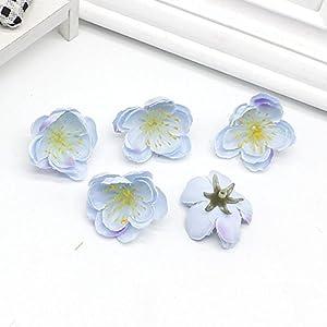 ShineBear 100 pcs Artificial Cherry Blossom Wedding DIY Garland Material Bride Headdress Home Decorative Flower Scrapbook 119