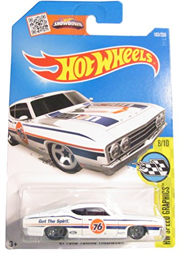 Hot Wheels 2016 HW Speed Graphics '69 Ford Torino Talladega 183/250, White