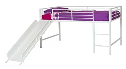 Amazon Com Harper Twin Low Loft Bed Kids Bedroom Furniture White