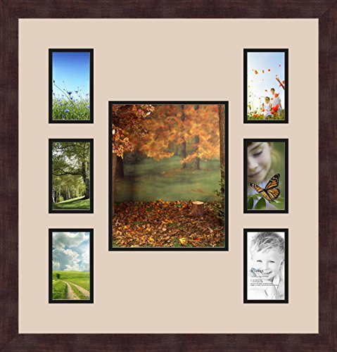 Art to Frames Double-Multimat-277-766//89-FRBW26079 Collage Photo Frame Double Mat with 2-5x5 4x5 Openings and Satin Black Frame
