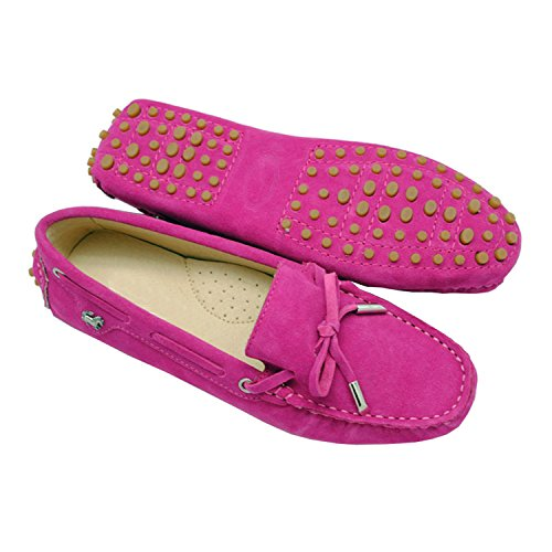 Minishion Tyb9602 Womens Casual Suède Loafers Rijden Schoenen Penny Moccasins Flats Rose